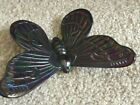 Westmoreland Glass Butterfly 4 3 4 Inches Blue Carnival FREE SHIPPING