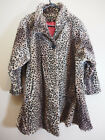 Vintage LEOPARD Print Womens Insulated Coat Size M Made in USA