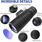 Monocular HD Telescopes 10X42 Waterproof Retractable Camping Hunting Watching