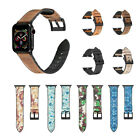 Camouflage Style Leather & Silicone Band Strap Black Adapter for Apple iWatch