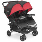 Double Twin Stroller Canopy Walker Seat Baby UV Foldable Tray Rain Recliner