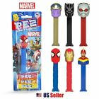 PEZ Kids Fun Candy Dispenser with Candy : Marvel Heroes (6 Characters Available)