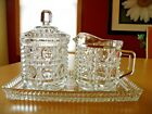 Vintage 60's-70's Federal or Indiana Glass Windsor Royal Brighton Creamer Sugar
