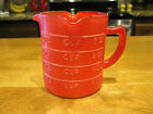 Vintage Hazel Atlas 3 Spout Red Flashed Measuring Cup Very Rare