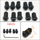 10PCS Black M5 Motorcycle Windscreen Windshield Fairing Screen Nut Bolt Screw