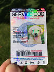 Service Dog Id Card Customized Holographic ESA 160 Product 5 STAR Rating