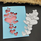 1x DIY Heart Lace Edge Metal Cutting Dies Stencils Scrapbook Decor Embossing Hot