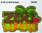 ZOO LOVERS title animals scrapbook paper piecing premade 3D die cut Rhonda