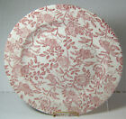 6 Bread or Dessert Plates 8 Inches Churchill Pink Roses Made in England