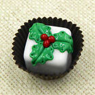 Hulet Glass Christmas Holly White Chocolate Glass Treat 22 024W