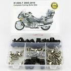 For BMW K1200LT 2005-2010 Motorcycle Fairing Bolts Screws Fasteners Kit Silver
