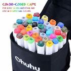 Ohuhu 60 Colors Dual Tips Permanent Marker Pens Art Markers W Carrying Case