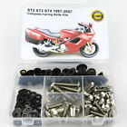 For Ducati ST2 ST3 ST4 Complete Fairing Bolts Kit Bodywork Screws Steel Silver