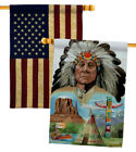 Native American Decorative USA Vintage Applique House Flags Pack HP111064 BOAA