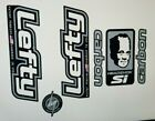 Sticker Decal Set for Old Style Cannondale Lefty ELO Carbon White and Chrome