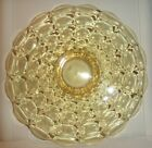 VINTAGE *TIARA* INDIANA GLASS *CONSTELLATION YELLOW* PATTERN - FOOTED CAKE PLATE