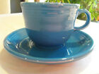 Fiesta Coffee Tea Cup and Saucer Fiestaware Lapis Blue HLC