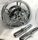 "HARLEY RIM 2014-17 TOURING STREET GLIDE, FLHX ENFORCER CHROME WHEEL ""EXCHANGE"""