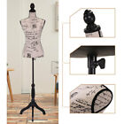 Female Mannequin Torso Clothing Dress Form Display Beige w Tripod Stand New