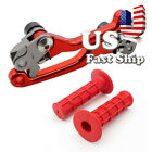 FXCNC Fit HONDA CRF150F CRF230F 2003-17 Dirt Brake Clutch Lever Handle Grips US