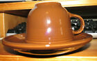 Fiesta Chocolate Brown Fiestaware Cup and Saucer