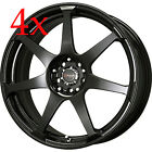 Drag DR33 14x55 4x100 35 offset Black Rims For 98 02 Toyota Corolla Echo Mr2