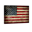 Canvas Wall Art Print Painting Picture Home Office Decor Vintage American Flag