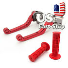 For HONDA CRF150R CRF150R CR250R Pivot Brake Clutch Lever 22mm Handle Grips US