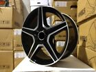 19 MERCEDES BENZ AMG C63 RIMS BLACK WHEELS SLK SLK320 SLK350 SLK500 SLK55 E55