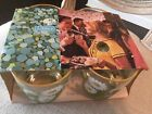Lot of 4 Vintage Retro Drinking Glasses Libbey Libby White Daisy New In Box