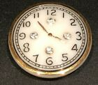 Vintage Glass Button Clock Face w Gold Luster  Paste Accents 1 1 16