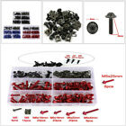 Colorful Motorcycle Screw Set Windscreen Fairing Bolts Set Fastener Clip Washers