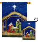 Nativity of Jesus Impressions Decorative Flag Collection HG114214