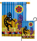 Kokopelli Dream Southwest Native American Chidbirth Garden House Yard Flag