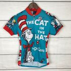 The Retro Image Apparel Cat In The Hat Cycling Jersey Top Sz XS Dr Seuss Funky