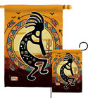 Kokopelli Playing Flute Southwest Hopi Fetitllty Native Garden House Yard Flag