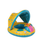 Baby Pool FloatBaby Inflatable Swimming Ring With Sun Shade Canopy Durable Z5F5