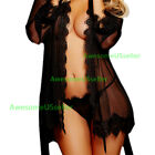 Sexy Lingerie Sleepwear Lace Women Teddy Robe Dress Bodysuit Babydoll Nightwear