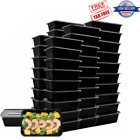 50 Pack Plastic Lunch Box Food Storage Meal Prep Containers Bento Microwaveable