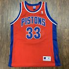 Vintage Authentic Grant Hill Detroit Pistons Champion Jersey 48 Red Alternate