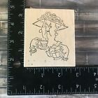 Art Impressions K 2789 Retired Old Woman Little Old Lady Tea Rubber Stamp