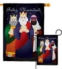 Feliz Navidad Nativity 3 Kings Jesus Religion Garden House Yard Flag