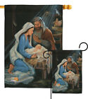 Nativity Religion Novl Jesus Child Mary Garden House Yard Flag