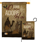 Let Us Adore Him Nativity Jesus Religion 3 Kings Lord Garden House Yard Flag