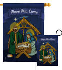 Hope Has Come Nativity Jesus Mary Religion Garden House Yard Flag