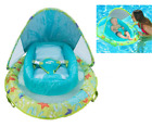Inflatable Infant Baby Pool Float 3 months+ with Canopy Fabric covered