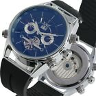 JARAGAR Men's Automatic Mechanical Watch Military Skeleton Watches Rubber Strap
