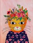Flower Crown Cat Blank Note Card Greeting Card