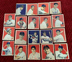 LOT OF 1949 BOWMAN BASEBALL CARDS 18 DIFFERENT CARDS DOM DIMAGGIO THOMSON FAIN++