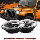 For 97 18 JEEP JK TJ LJ Wrangler 7 Round 180W Total CREE LED Headlights Hi Lo